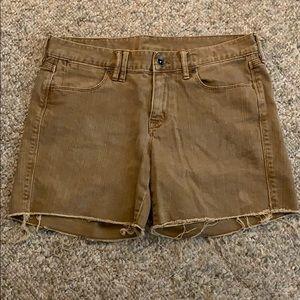 Madewell Brown Boyfriend Cutoff Jean Shorts Sz 27